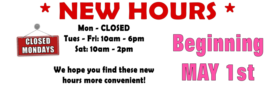New hours banner