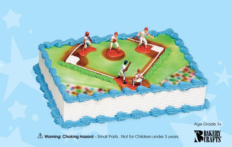 Baseball Cake Kit   5 player Cake Connection